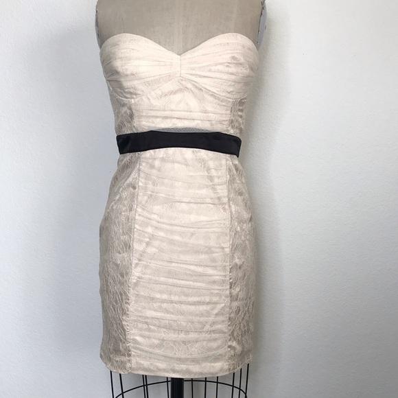 bebe Dresses & Skirts - Bebe M lace strapless dress